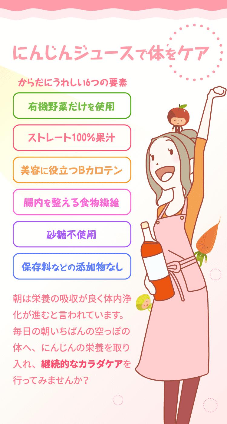 にんじんジュースが体いにいい6つの理由
