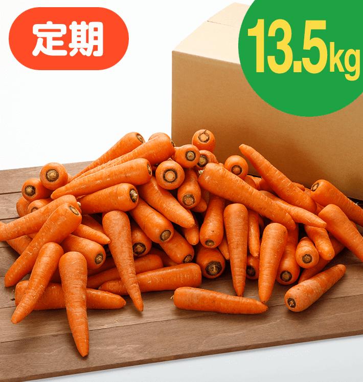 【お得な定期購入】ジュース用にんじん(13.5kg)